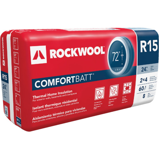 Rockwool Comfortbatt R-15 24 In. x 47 In. Stone Wool Insulation (8-Pack)