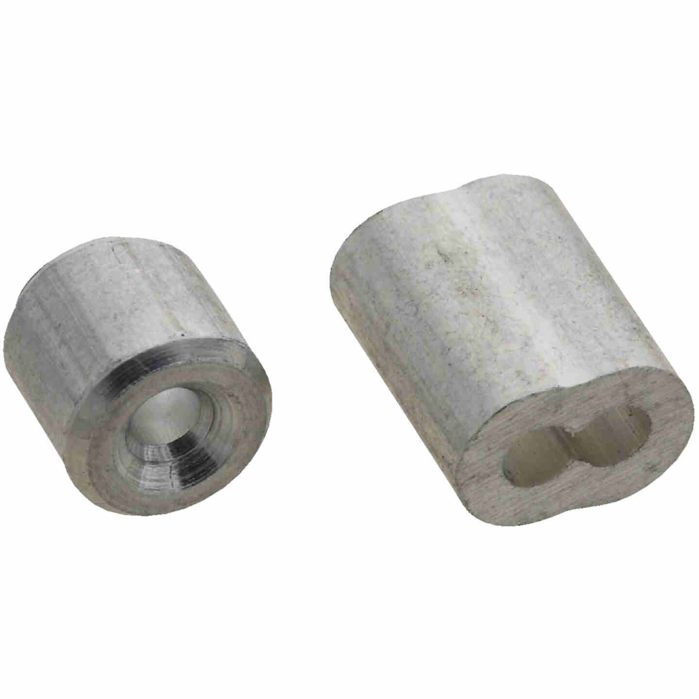 """Prime-Line Cable Ferrules and Stops, 3/32"""", Aluminum Image 1"""