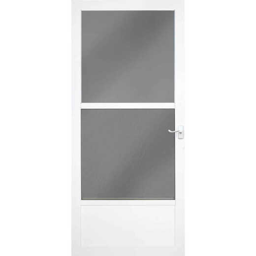 Larson Classic 32 In. W x 81 In. H x 1-1/4 In. Thick White Self-Storing Aluminum Storm Door