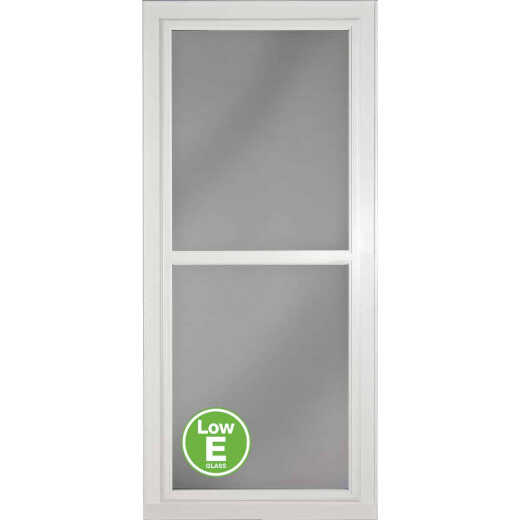 Larson Easy Vent 146 Series 36 In. W x 81 In. H x 1-7/8 In. Thick White Full View Aluminum Storm Door