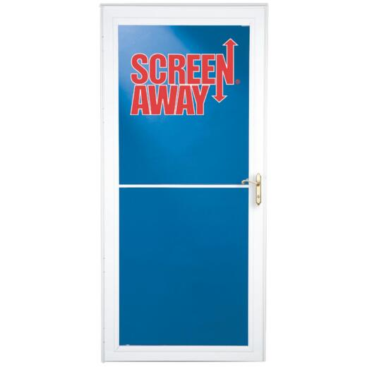 Larson Screenaway Lifestyle 36 In. W. x 81 In. H. x 1-3/8 In. Thick White Full View Aluminum Storm Door
