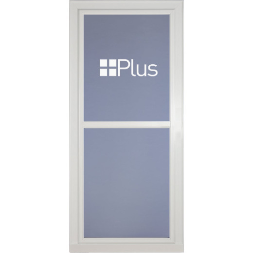 Larson Easy Vent XTR 36 In. W x 81 In. H x 1-7/8 In. Thick White Full View Aluminum Storm Door