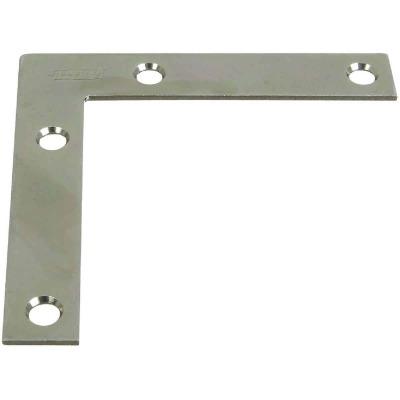 National Catalog 117 3-1/2 In. x 5/8 In. Zinc Flat Corner Iron