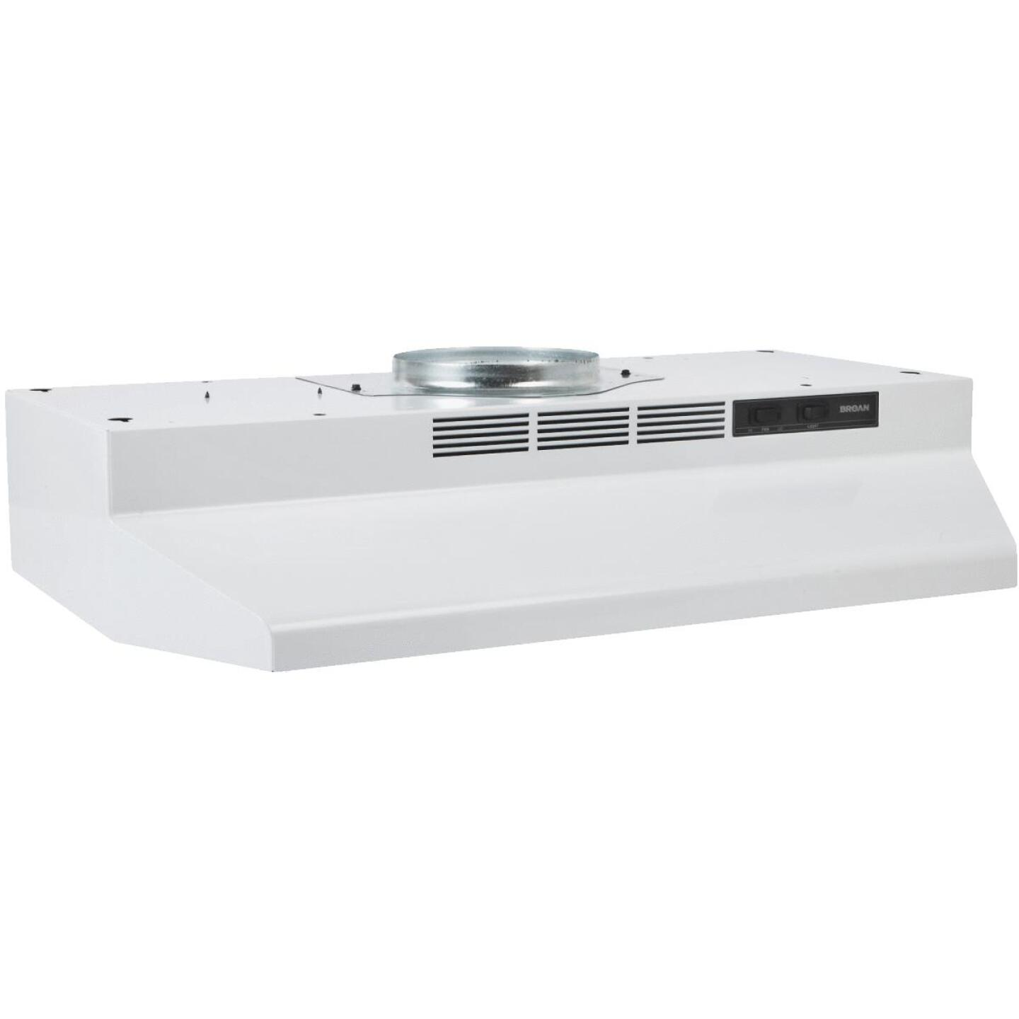 Broan-Nutone F Series 30 In. Convertible White Range Hood Image 1
