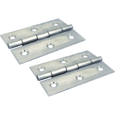 Seachoice 1-5/8 In. x 2-1/2 In. Stainless Steel Extruded Butt Hinge (2-Pack)