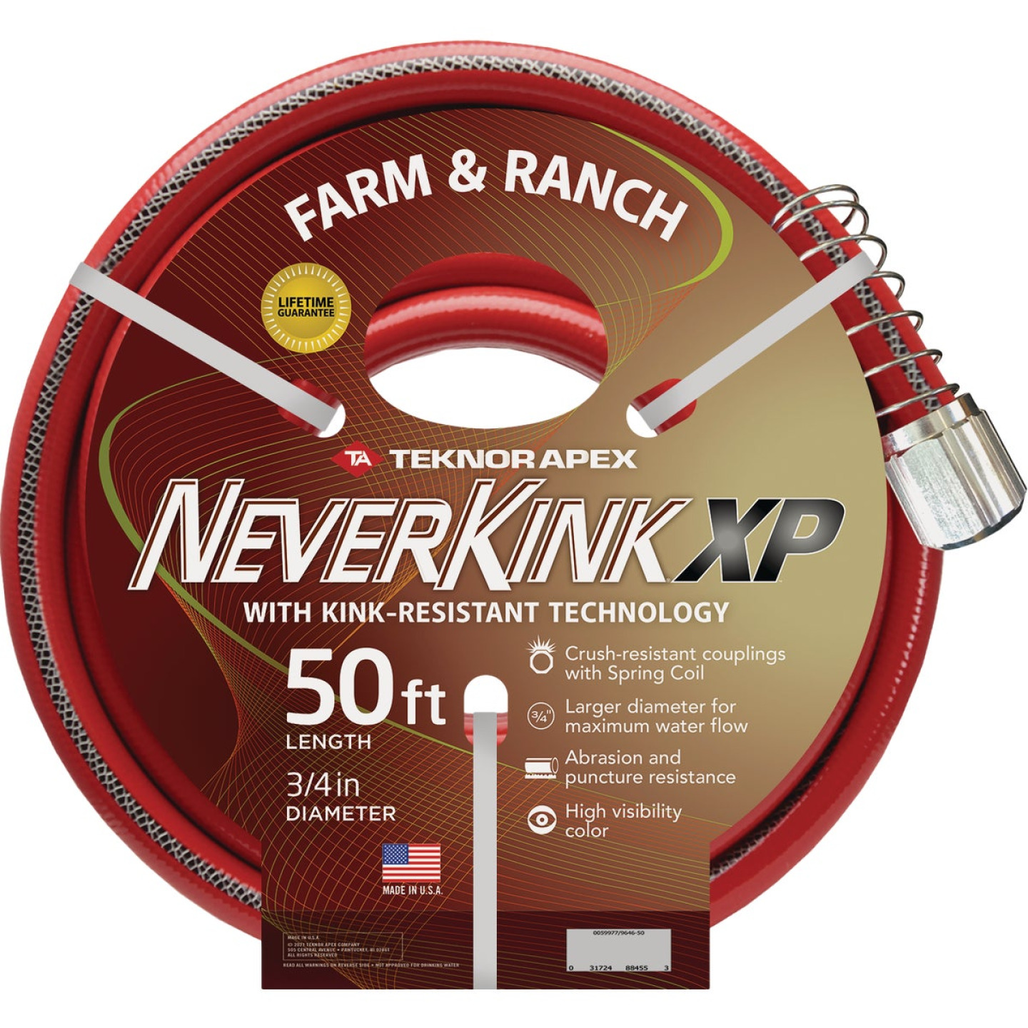NeverKink XP 3/4 In. x 50 Ft. Farm & Ranch Hose Image 1