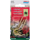 National 2-1/2 In. Brass Ceiling Hook (3 Pack) Image 2