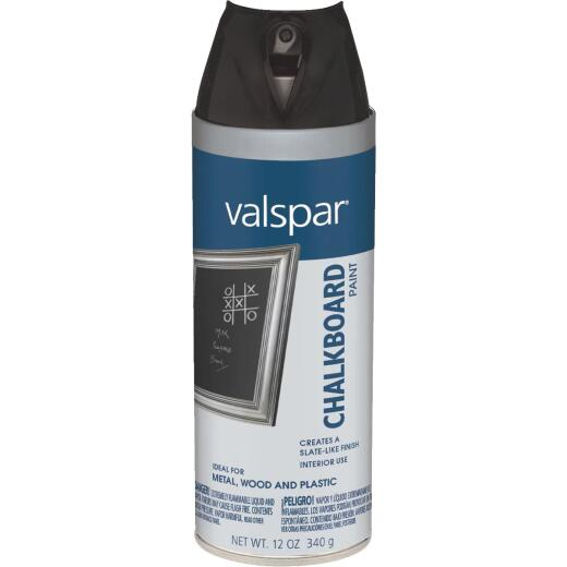 Valspar Black 12 Oz. Slate-like Finish Chalkboard Spray Paint